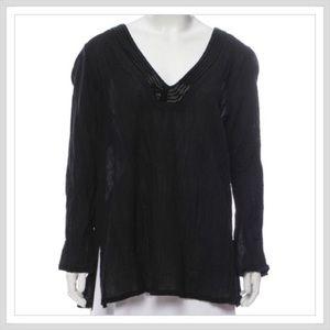 BADGLEY MISCHKA Embellished Long Sleeve Top